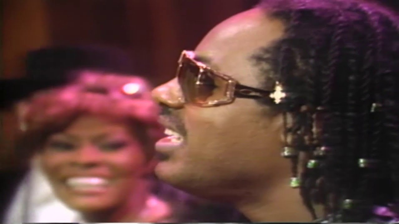 Dionne Warwick and Stevie Wonder