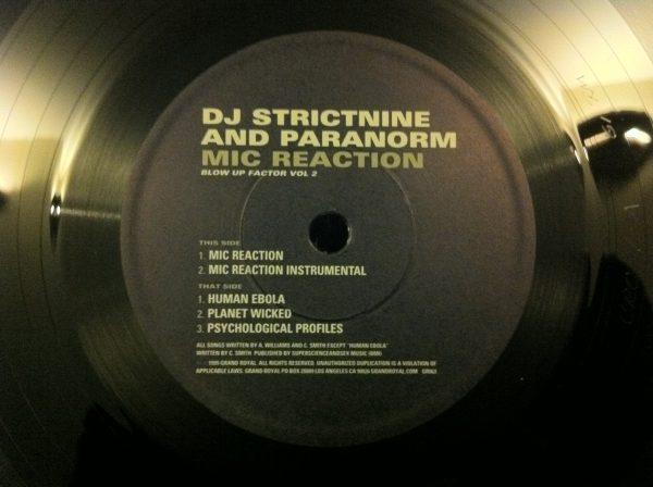 Dj Strictnine and Paranorm - Mic Reaction (12 Vinyl Single) - Record